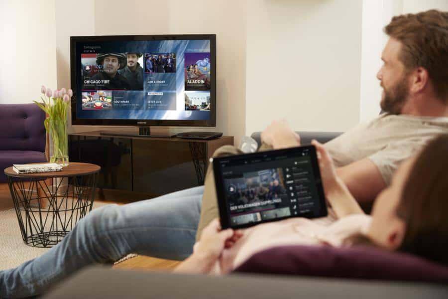 Smart TV über das Tablet schauen