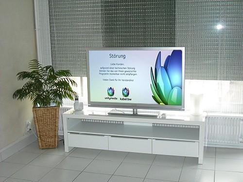 Fernseher mit Störung