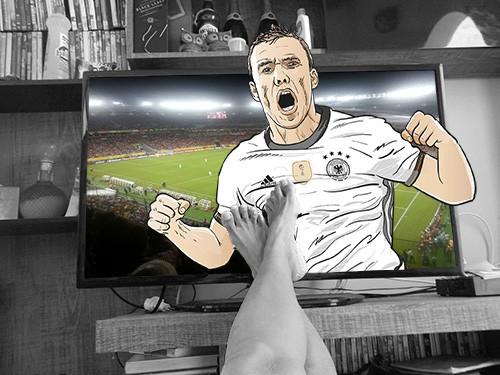 Fußball WM auf dem Fernseher schauen