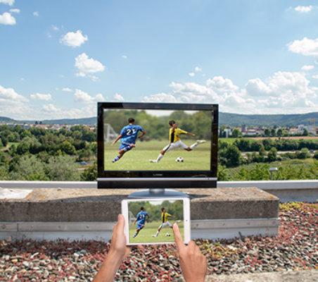 Fußball-Bundesliga bei der Gartenparty