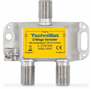 Bild des Produktes 'TechniSat 2-Wege Sat-Verteiler (2x DC-Durchlass, Diodenentkoppelt)'
