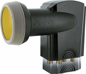 Bild des Produktes 'SCHWAIGER 401- Quattro LNB mit Sun Protect, digital, für Multischalter, extrem hitzebeständige LNB Kappe, Einsatz mit '