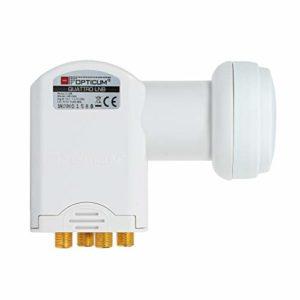 Bild des Produktes 'Opticum Quattro LNB - LRP-04H Kontakte (Vergoldet, Full HD, 3D, Nur in Verbindung mit Multischalter nutzbar)'