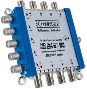 Bild des Produktes 'SCHWAIGER -5200- Multischalter 5 -> 8 / Verteilt 1 SAT-Signal auf 8 Teilnehmer / SAT-Verteiler / SAT-Splitter mit Net'