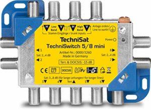 Bild des Produktes 'TechniSat TECHNISWITCH 5/8 MINI, Multischalter / Satverteiler für bis zu 8 Teilnehmer, 100m Entfernung überbrückbar, '