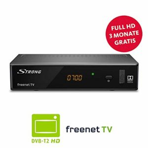 Bild des Produktes 'STRONG SRT 8541 DVB-T2 Receiver, freenet-TV Full HD (HDTV, FHD, HDMI, LAN, SCART, Mediaplayer, USB, H.265) Schwarz'
