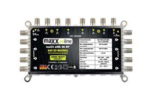 Bild des Produktes 'maxx.onLine Digital Multischalter 9 in 8 - Multischalter für 2 Satelliten/8 Teilnehmer - Geringe Stromaufnahme - 0 Watt'