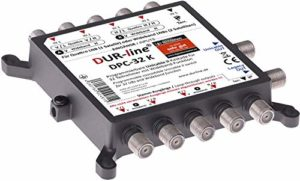 Bild des Produktes 'DUR-Line DPC-32 K - Unicable I+II- Multischalter für 32 Teilnehmer (programmierbar) - 1 Satellit + Terr. – Einkabell�'