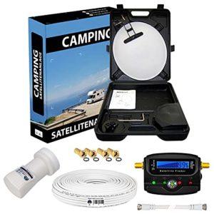 Bild des Produktes 'HB-DIGITAL HD Camping Sat Anlage im Koffer 40cm Schüssel + Digital SATFINDER + Opticum LNB 0,1 10m Kabel für HDTV UHD '