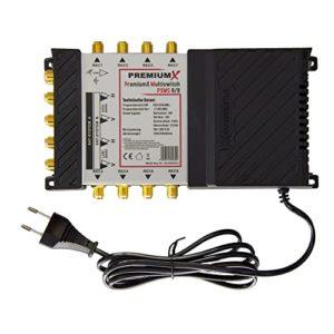 Bild des Produktes 'PremiumX Multischalter PXMS-9/8 Multiswitch Matrix 9-8 mit Netzteil für 8 Teilnehmer Switch Sat Digital FullHD 3D 4K'