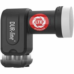 Bild des Produktes 'DUR-line +Ultra Premium Quattro - LNB - für Multischalter + mit LTE-Filter + [Full HD, HDTV, 3D, LTE-/UMTS-/GSM-/DECT-F...'