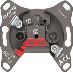 Bild des Produktes 'Axing SSD 5-07 Universal Sat Enddose mit 7 dB Anschlussdämpfung (SAT/TV / R)'