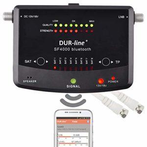 Bild des Produktes 'NEUHEIT! Bluetooth Easy SatFinder - DUR-line SF 4000 BT - mit 8 vor eingestellten Satelliten inkl. Smartphone-App für w'