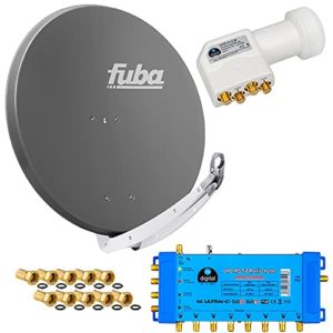 Bild des Produktes 'FUBA 8 Teilnehmer Digital SAT Anlage DAA850A + Opticum LNB 0,1dB FULL HDTV 4K + PMSE Multischalter 5/8 + 24 Vergoldete F'