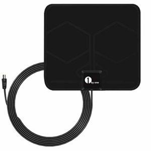 Bild des Produktes '1byone HD 1080P Verstärkte Antenne Super-Flat DVB-T Zimmerantenne für DVB-T/DVB-T2 kompatible Fernseher Antenne'
