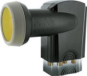 Bild des Produktes 'SCHWAIGER 371- Quad LNB mit Sun Protect, 4-fach, digital,4 Teilnehmer, extrem hitzebeständige LNB Kappe, Einsatz mit Sa...'