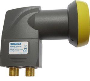 Bild des Produktes 'Humax LNB 143s Gold Quad Switch LNB (0,1dB, 4 Teilnehmerausgänge, 40mm Feed, HDTV) mit eingebautem Multischalter'