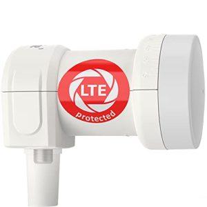 Bild des Produktes 'DUR-line +Ultra Single LNB - 1 Teilnehmer weiß - mit LTE-Filter - Test SEHR GUT - 1-Fach, digital, Full HD, 4K, 3D, Sie'