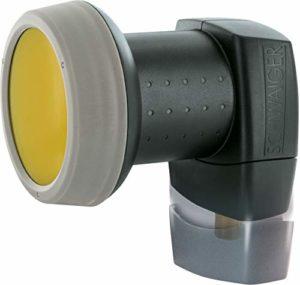 Bild des Produktes 'SCHWAIGER 319- Single LNB mit Sun Protect, 1-Teilnehmer, digital, extrem hitzebeständige LNB Kappe, Einsatz mit Satelli'