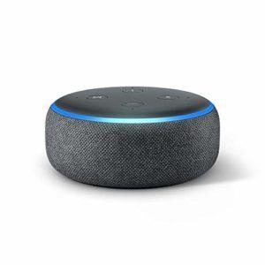 Bild des Produktes 'Echo Dot (3. Gen.) Intelligenter Lautsprecher mit Alexa, Anthrazit Stoff'