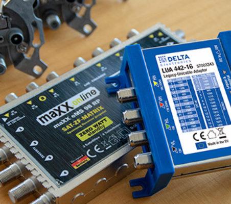 SAT-Anlage: 2x Quattro-LNB, 9 in 8 Multischalter mit Unicable-Multiswitch erweitern