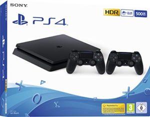 Bild des Produktes 'PlayStation 4  - Konsole (500GB, schwarz, slim, F-Chassis) inkl. 2 DualShock 4 Controller'