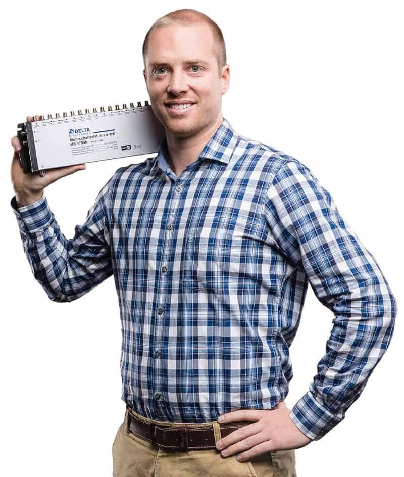 Timo Stubenrauch mit Multischalter