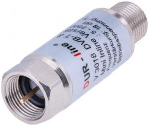 Bild des Produktes 'DUR-line V3018 - Inlineverstärker SAT + DVB-T - 18dB Verstärkung'