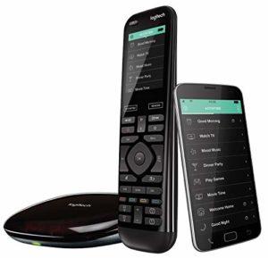 Bild des Produktes 'Logitech Harmony Elite Fernbedienung Hub und App (funktioniert mit Alexa, elegantes Design, Universalfernbedienung, One-...'