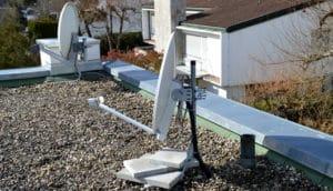 Halterungen für Satellitenschüsseln