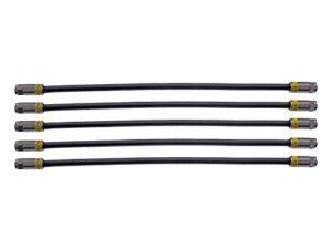 Bild des Produktes 'Cabelcon 5X 30cm Jumperkabel, Patchkabel, Verbindungskabel F-Stecker auf F-Stecker, FRNC schwarz 3fach geschirmt Koaxial'
