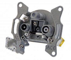 Bild des Produktes 'DCT Delta 3-Loch Kabelfernsehen Multimedia-Stichdose 5-1006 MHz, 4dB / BEM 8604 85Q / Digital / Aufputz / Unterputz / DV'