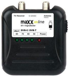Bild des Produktes 'maxx.onLine ST-1 Signaltester Kabelfernsehen DVB-C/ DVB-T, analog/ digital 40-862 MHz'
