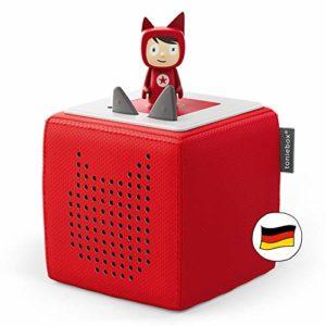 Bild des Produktes 'Toniebox Starterset in Rot: Toniebox + Kreativ-Tonie - Der tragbare Lautsprecher für Tonies Hörfiguren und Kreativ Ton'