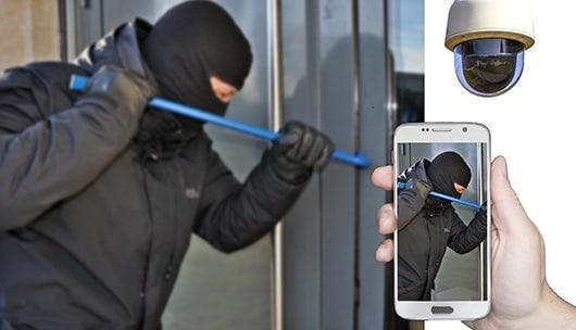 Einbrecher gefilmt über Kamera Smart Home