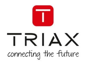 Triax Logo mit Statement