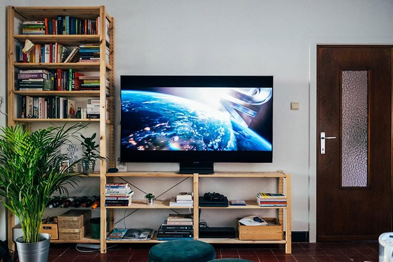 Smart TV im Wohnzimmer